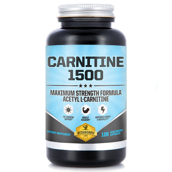 Acetyl L-Carnitine 1500mg Per Serving | Highest Potency Acetyl L-Carnitine HCl Supplement for Mentality, Energy, Fat Metabolization
