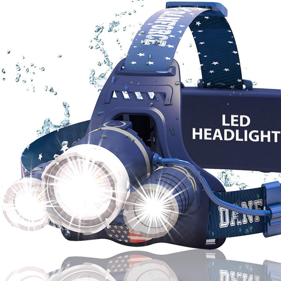 DanForce Headlamp. USB Rechargeable LED Head Lamp