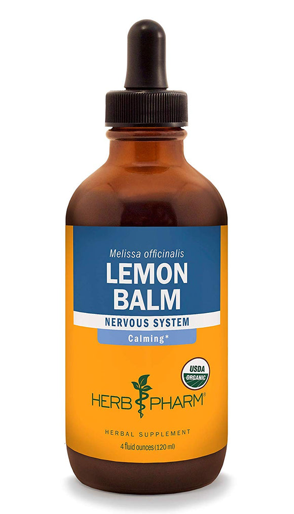Herb Pharm Certified Organic Lemon Balm Liquid Extract for Calming Nervous System Support