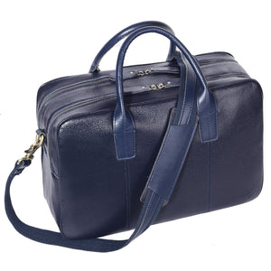 Leathario Men's Leather Briefcase Shoulder Messenger Laptop Bag Business Bag