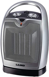 Lasko Ceramic Portable Space Heater with Adjustable Thermostat - Features Widespread Oscillation