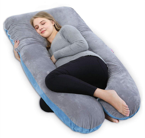 AngQi  Full Body Pregnancy Pillow, U Shaped Maternity Pillow for Pregnant Women and Back Pain