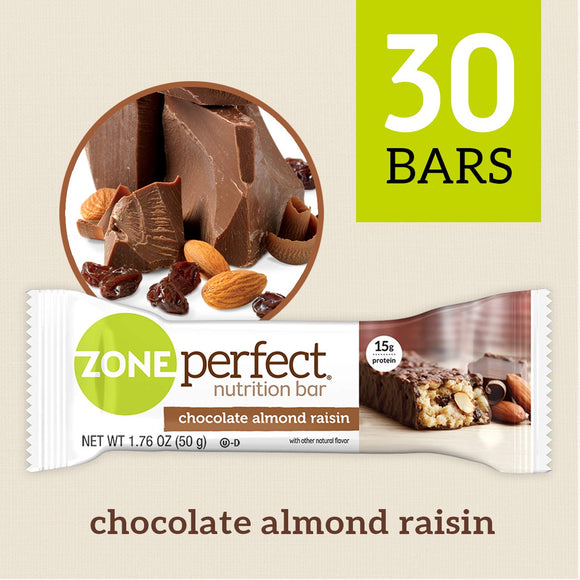 ZonePerfect Nutrition Snack Bars, Double Dark Chocolate, 1.58 oz, (30 Count)