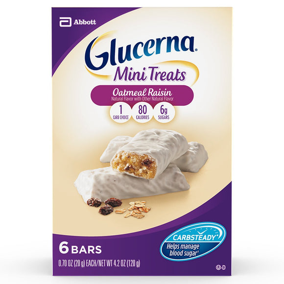 Glucerna Mini Treat Bars, To Help Manage Blood Sugar, 0.70 Ounce Bar, 36 Count (Packaging May Vary)