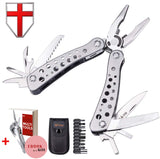 Multitool with Mini Tools, Knife, Pliers - Best Army Knife and Multi Tools Pliers - 11 Bits - Cool Utility Multi Function Tool