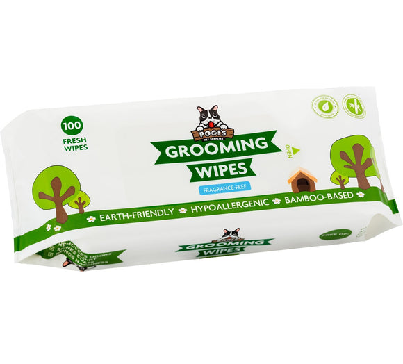 Pogi's Grooming Wipes - Deodorizing Wipes for Dogs & Cats - Earth-Friendly, Hypoallergenic