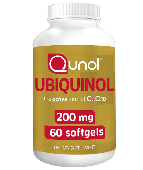 Qunol Ubiquinol 200mg, CoQ10, 60 Count