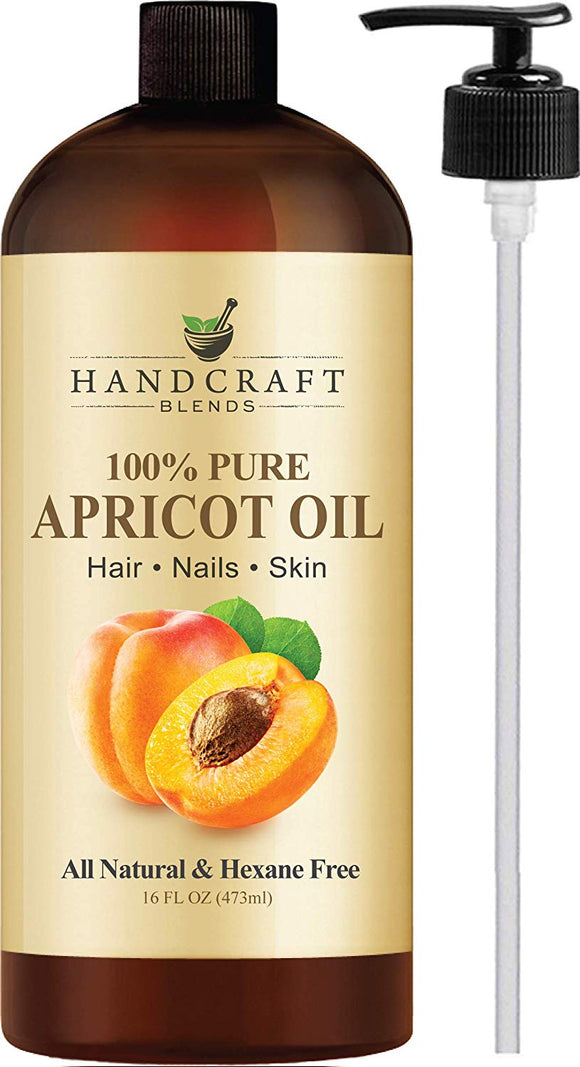 100% Pure Apricot Kernel Oil - HUGE 16 OZ