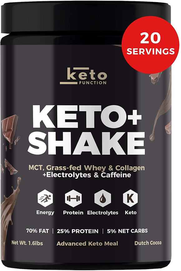 Dutch Chocolate Keto Shake - Low Carb High Fat Keto Meal Replacement Shake