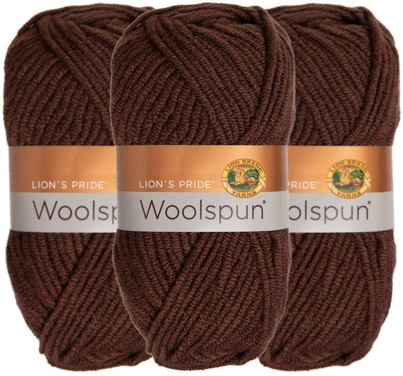 Lion Brand (3 Pack) Woolspun Acrylic & Wool Soft