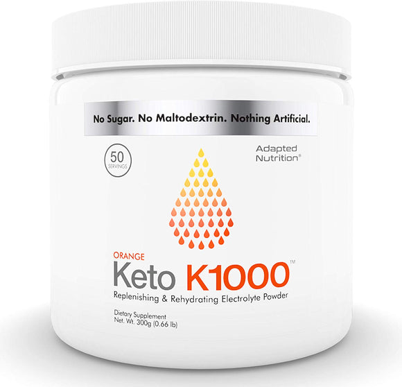 Keto K1000 Electrolyte Powder | Boost Energy & Beat Leg Cramps | No Maltodextrin or Sugar