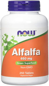 Alfalfa 10 Grain Now Foods 250 Tabs