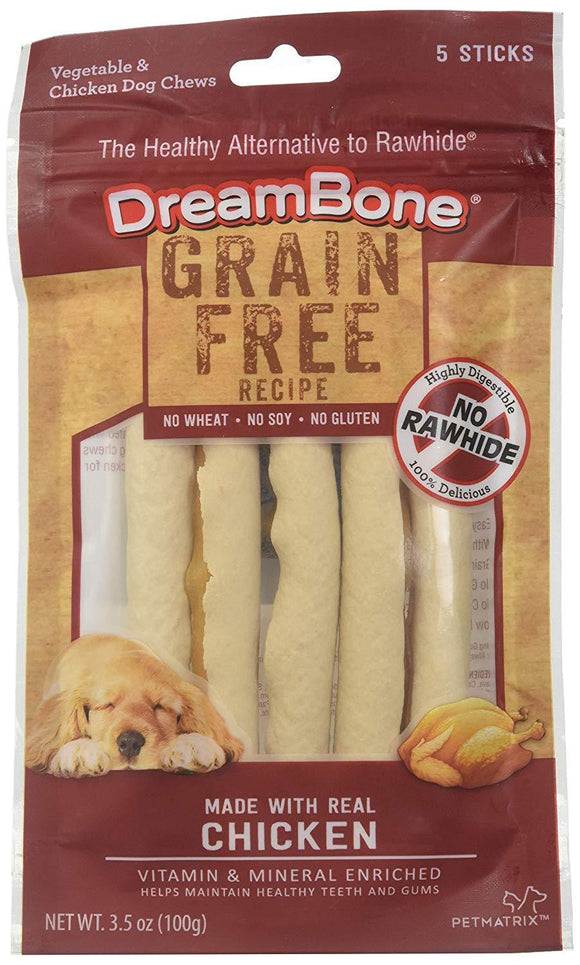DreamSticks Rawhide Free Vegetable Chew, Chicken, Beef Bacon & Cheese