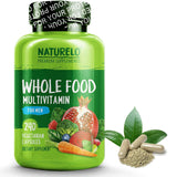NATURELO Whole Food Multivitamin for Men - with Natural Vitamins, Minerals, Organic Extracts - Vegan Vegetarian - - 120 Capsules