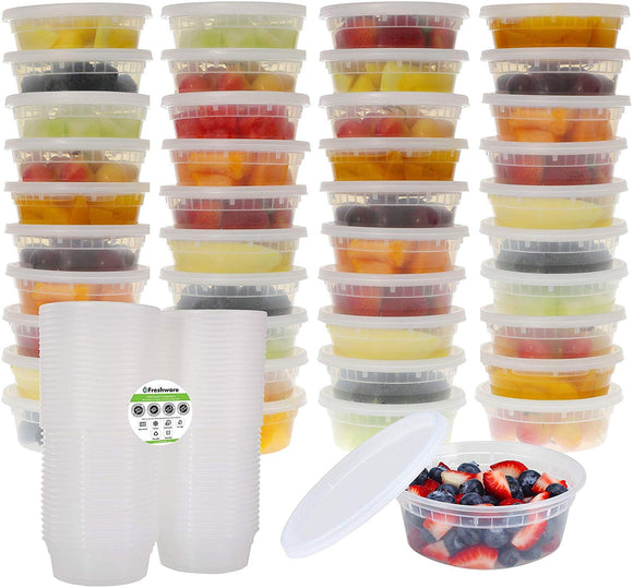 Freshware Plastic Food Storage Containers