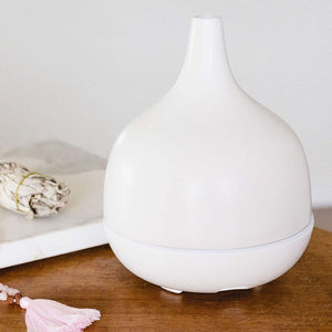 Hand-Crafted Ceramic Stone Ultrasonic Essential Oil Diffuser for Aromatherapy