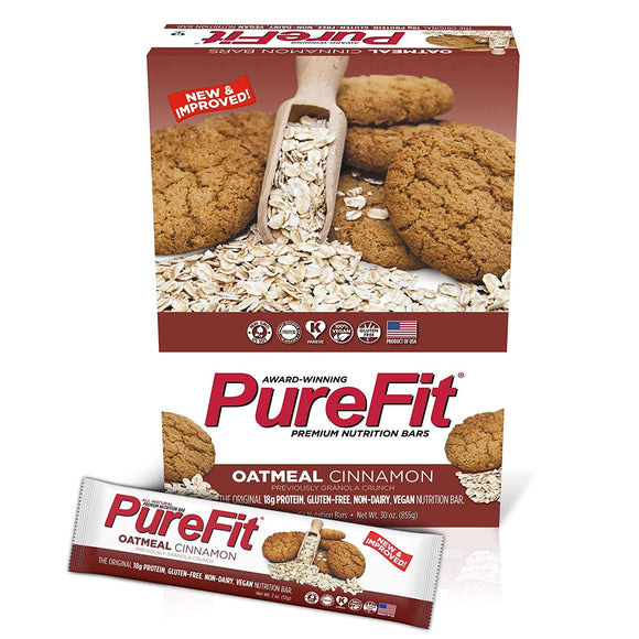 PureFit Peanut Butter Chocolate Chip Premium Nutrition Bars, 15 Count | 18G Protein, Performance Enhancement & Energy Bar