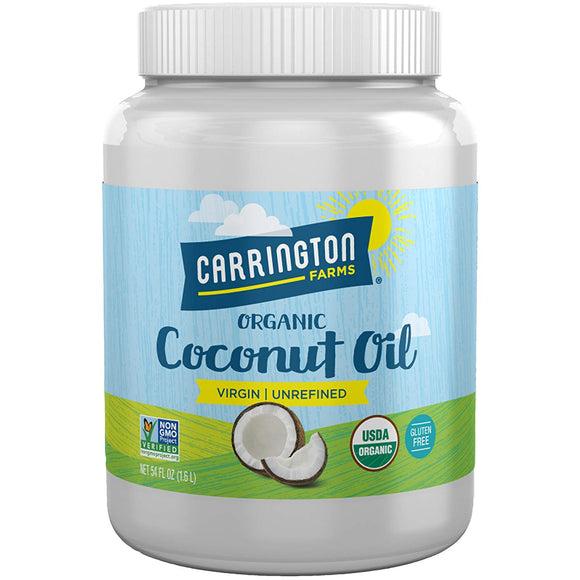 Carrington Farms Gluten Free, Unrefined, Cold Pressed, Virgin Organic Coconut Oil, 54 oz. (Ounce)