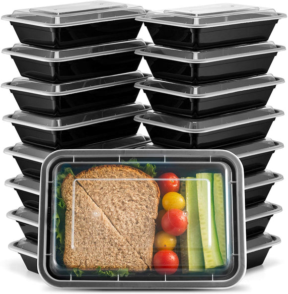 Ez Prepa [25 Pack] 28oz Single Compartment Meal Prep Containers