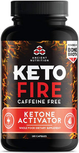 Ancient Nutrition KetoFIRE Caffeine Free Capsules, 180 Count — Keto Diet Supplement