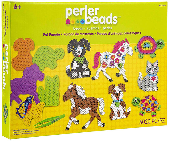 Perler Pet Parade Deluxe Fuse Bead Craft Activity Kit