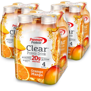 Premier Protein Clear Protein Drink, 16.9 fl oz Bottle, (12 Count)