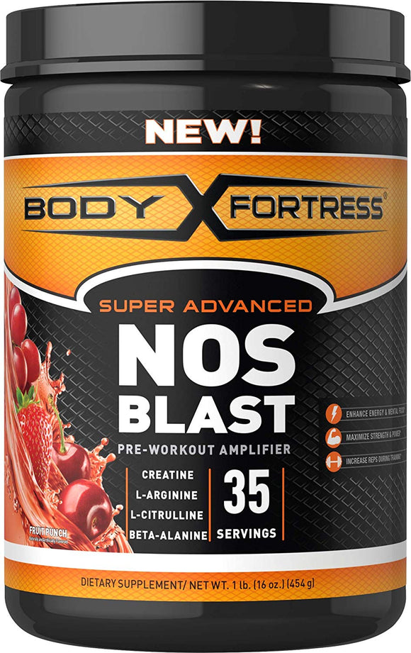 Body Fortress NOS Blast Pre Workout Amplifier