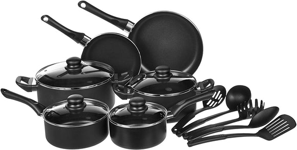 Non-Stick Kitchen Cookware Set - Pots, Pans and Utensils