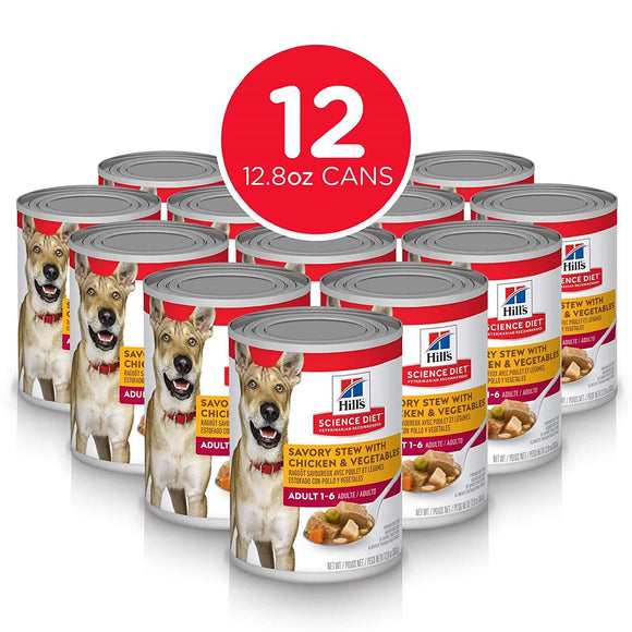 Hill's Science Diet Wet Dog Food, Adult, Savory Stew