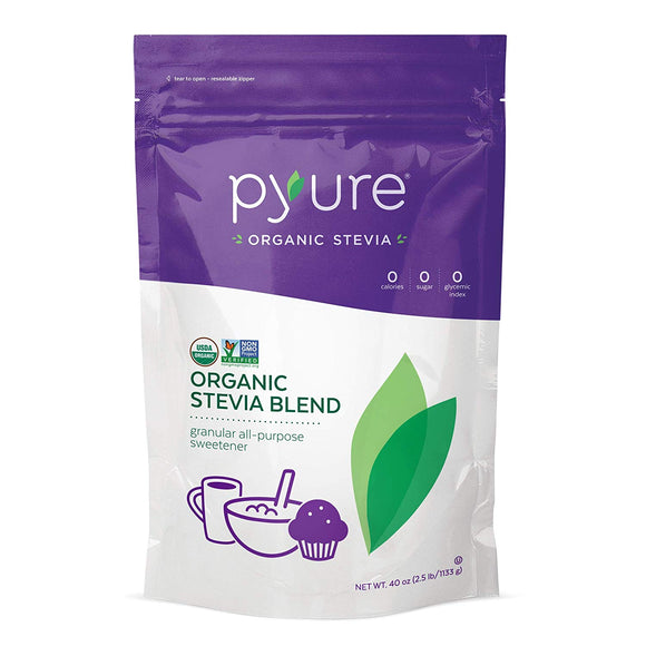 Pyure Organic All-Purpose Blend Stevia Sweetener, 2.5 lb (40 oz)