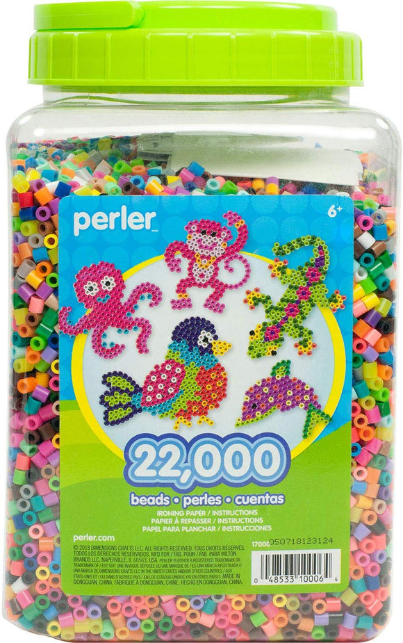 Perler Beads Bulk Assorted Multicolor Fuse Beads for Kids Crafts