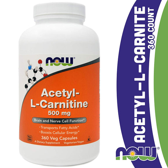 Now Foods, Acetyl L Carnitine, 100 Capsules