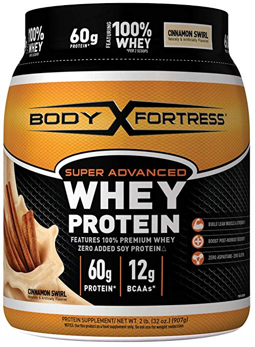 Body Fortress Super Advanced Whey Protein Powder, 2 lbs