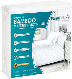 PlushDeluxe Premium Bamboo Mattress Protector – Waterproof, Hypoallergenic & Ultra Soft Breathable Bed Mattress Cover