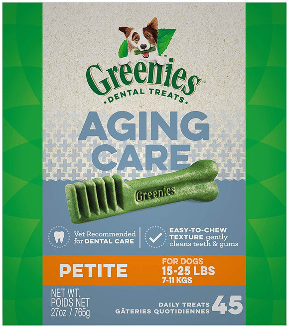 GREENIES Senior Aging Care Dental Dog Treats, 27 oz. Pack