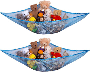 Jumbo Toy Hammock- Organize Stuffed Animals and Children's Toys with This Mesh Hammock