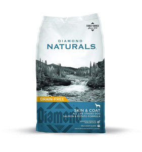 Diamond Naturals Skin & Coat Real Meat Recipe Premium Dry Dog Food With Wild Caught Salmon 30Lb