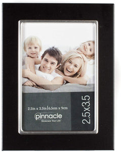 Pinnacle  Black and Silver Metal Tapletop Picture Frame