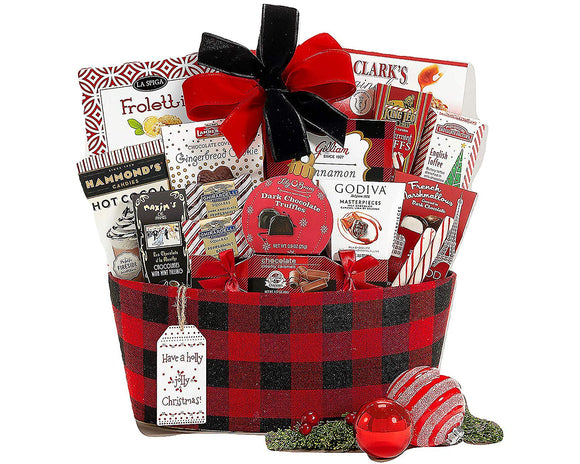 Happy Holidays Gift Basket With Award Winning Brands and Savory Treats