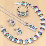 925 STERLING SILVER MYSTIC TOPAZ SPLENDID BIRTHSTONE 5 PCS SET
