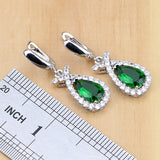 NATURAL 925 STERLING SILVER EMERALD PERFECT BIRTHSTONE 5 PCS SET