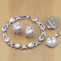 NATURAL 925 STERLING SILVER DIAMOND FINE BIRTHSTONE 5 PCS SET