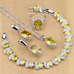 925 STERLING SILVER YELLOW TOPAZ CLASSIC BIRTHSTONE 5 PCS SET