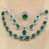 NATURAL 925 STERLING SILVER EMERALD CLASSIC BIRTHSTONE 5 PCS SET