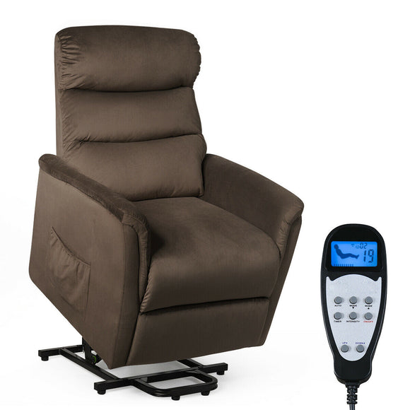 Power Lift Recliner Massage Chair with Warm Fabric