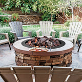 36 Inch Round Steel Fire Pit Ring Liner Wood Burning Insert