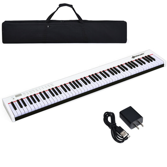 BX-II 88-key Portable Weighted Digital Piano with Bluetooth & MP3