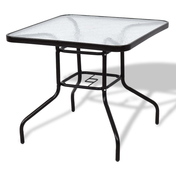 Patio Square Table Steel Frame Dining Table