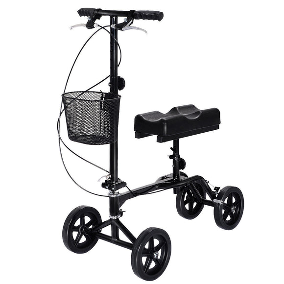 Steerable Foldable Turning Brake Knee Walker Scooter