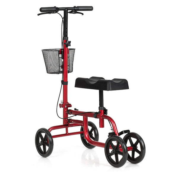 Foldable Knee Walker W- Basket and Dual Brakes